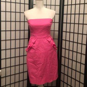 J. Crew 4 S Hot Pink Cocktail Dress